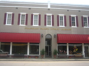 Franklin Parish, Louisiana - Franklin Parish Library in downtown Winnsboro historic district