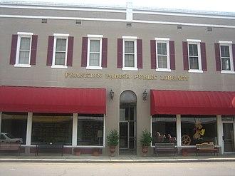 Franklin Parish, Louisiana - Franklin Parish Library in downtown Winnsboro historic district