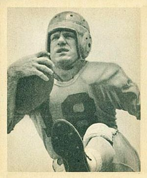 Fred Gehrke - Gehrke on a 1948 Bowman football card