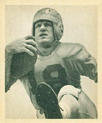 Fred Gehrke - Gehrke on a 1948 Bowman football card