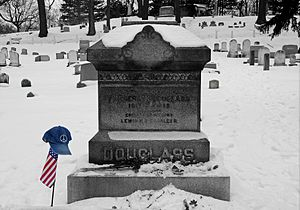 The gravestone of Frederick Douglass located a...