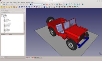 FreeCAD - Image: Freecad jeep
