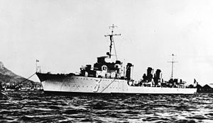 Vauquelin-class destroyer - Chevalier Paul in the mid-1930s