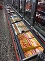 Frozen Pizza Grandiosa in chest freezer, Spar Supermarket in Tjøme, Norway 2017-12-05.jpg