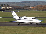 G-SONE Cessna Citation CJ2 Centreline Air Charter Ltd (23752840910).jpg