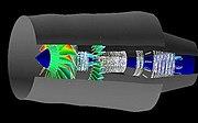 NASA GE90 airflow simulation