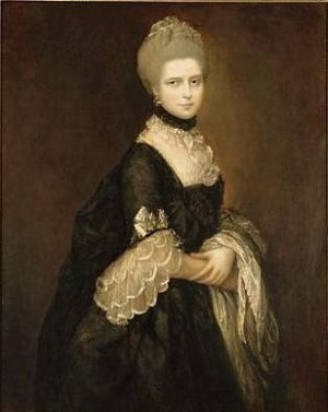 Maria, Duchess of Gloucester and Edinburgh - Maria (in mourning), by Gainsborough.