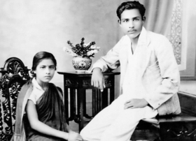 Gajanan Madhav Muktibodh with his wife.png
