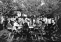 Garden, outdoor chair, soda water bottle, vacuum flask Fortepan 20716.jpg