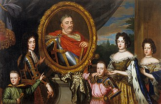 House of Sobieski - Apotheosis of John III Sobieski surrounded by his family.