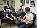 Genome scientists unwinding playing chess in Saint Petersburg.jpg