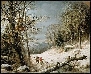 Winter Landscape: Gathering Wood