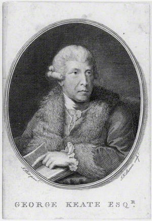 George Keate - George Keate, 1781 engraving by John Keyse Sherwin, after John Plott