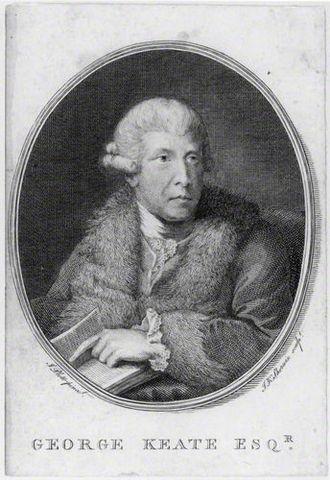 George Keate - George Keate, 1781 engraving by John Keyse Sherwin, after John Plott