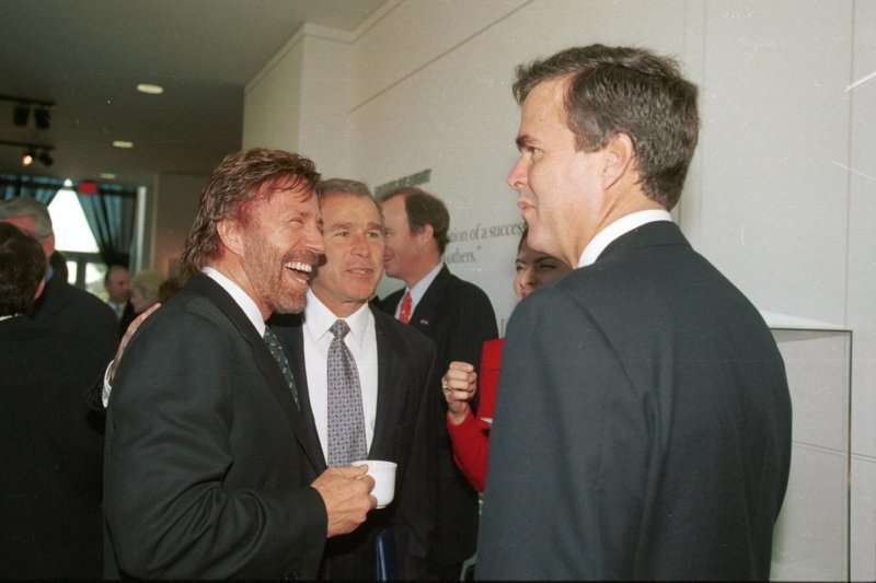George W. Bush and Chuck Norris