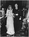 George and Barbara Bush on their wedding day in Rye, New York - NARA - 186372.tif