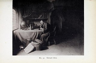Scholar smoking a Pipe in his Study (Rembrandt's father)
