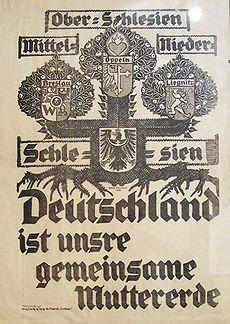 Niemiecki plakat propagandowy z okresu plebiscytu