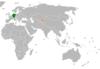 Lage von Deutschland und Kirgisistan