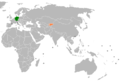 Germany Kyrgyzstan Locator.png