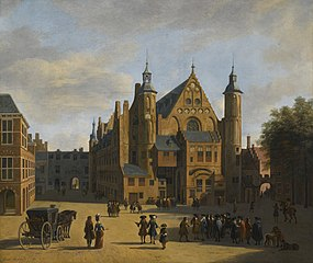View of the Binnenhof in the Hague, with the Ridderzaal