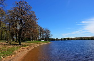 Twin Lakes State Park (Michigan) - Shore and lake