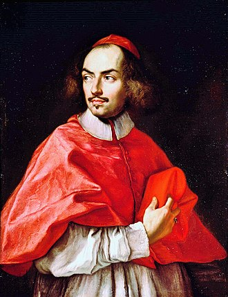 Rospigliosi family - Giacomo Rospigliosi, cardinal-nephew of Pope Clement IX, in a painting of Carlo Maratta