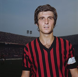 Gianni Rivera - Rivera as Milan's captain in January 1971.