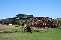 Gillette College Main Building and bridge over Donkey Creek in Gillette, Wyoming.jpg
