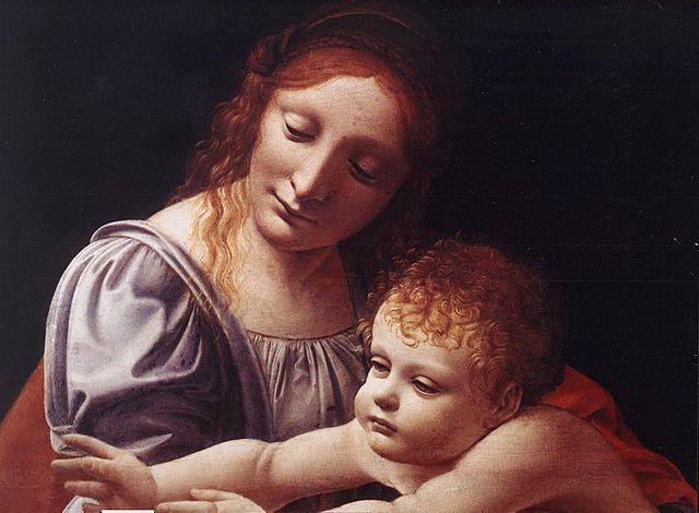 "Giovanni Antonio Boltraffio : ""La vierge et l'enfant"""