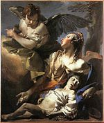 Giovanni Battista Tiepolo - The Angel Succouring Hagar - WGA22259.jpg