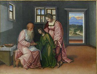 Girolamo da Treviso - Image: Girolamo da Treviso Isaac bénissant Jacob