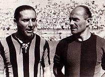 Giuseppe Meazza, Amedeo Biavati 1946.jpg