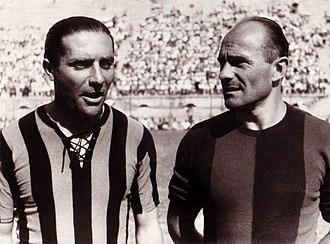 Giuseppe Meazza - Giuseppe Meazza with Amedeo Biavati