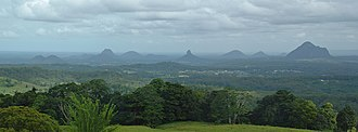Sunshine Coast, Queensland - Image: Glass House Mountains
