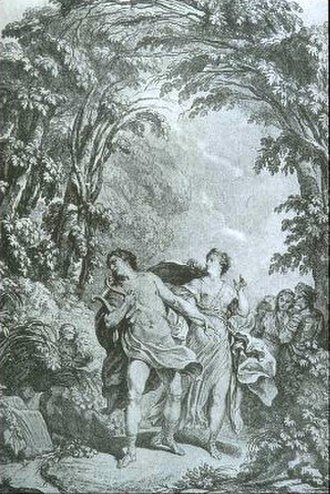 Orfeo ed Euridice - Illustration from a 1764 edition of the score
