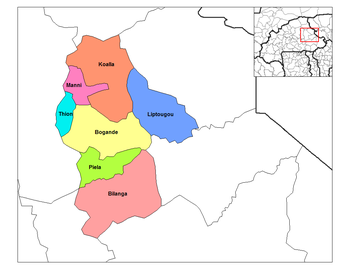 Piela Department location in the province