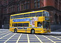 Go North East bus 3812 Volvo Olympian N Counties Palatine II S812 FVK Yellow Bus livery in Newcastle 9 May 2009 2.jpg