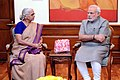 Goa Governor Mridula Sinha with PM Narendra Modi.jpg