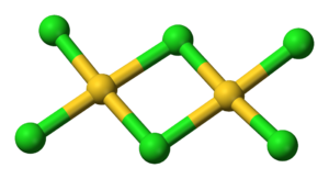 Gold(III) chloride - Image: Gold(III) chloride dimer 3D balls