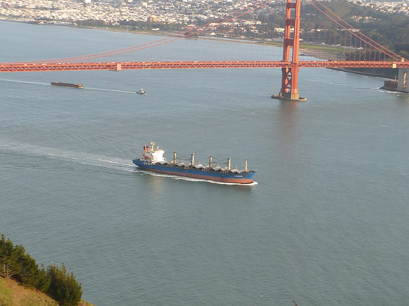 File:Golden Gate Bridge and Boat.JPG