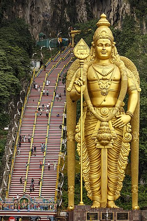 Gombak District - Statue of Murugan at Batu Caves