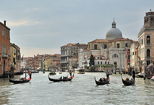Gondola - Gondolas on the Grand Canal