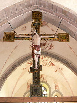 Grötlingbo Church - Triumphal crucifix, mid-13th century