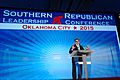Governor of Texas Rick Perry at Southern Republican Leadership Conference, Oklahoma City,12 OK May 2015 by Michael Vadon 11.jpg
