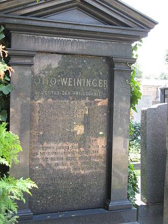 Matzleinsdorf Protestant Cemetery - Image: Grab von Otto Weininger