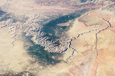 Image of the Grand Canyon and surrounding area taken from the International Space Station GrandCanyon.NASA.2014.jpg