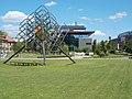 Graphisoft Park, Rubik's Cube and Hx building, 2016 Aquincum.jpg