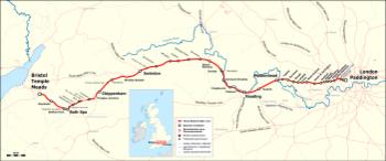 Strecke der Great Western Main Line