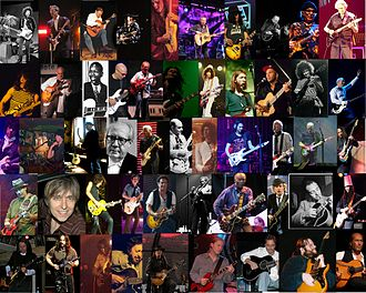 Guitarist - Montage of guitarists. The guitarists pictured are named on the image page.